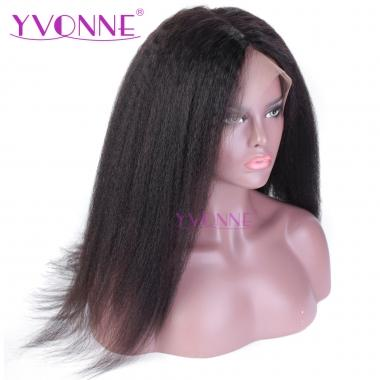 Yvonne Hair 180% Density Kinky Straight Full Lace Human Hair Wigs For Black Women Natural Color With Baby Hair Around