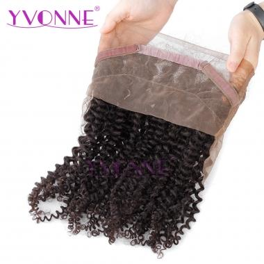 Yvonne Malaysian Curly 360 Lace Frontal Virgin Brazilian Human Hair Natural Color 12inch-18inch