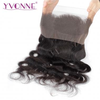 YVONNE Brazilian Body Wave 360 Full Lace Frontal, 22.5x4 Virgin Human Hair Lace Frontal Closure