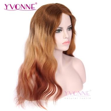 YVONNE Body Wave Glueless Lace Front Ombre Human Hair Wigs