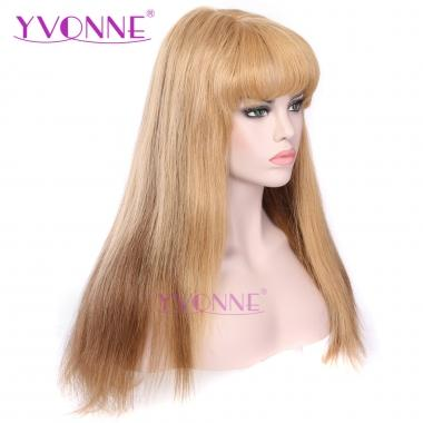 [ONLY ONE] YVONNE Natural Straight Ombre Full Lace Wigs 100% Human Hair Color 27/30