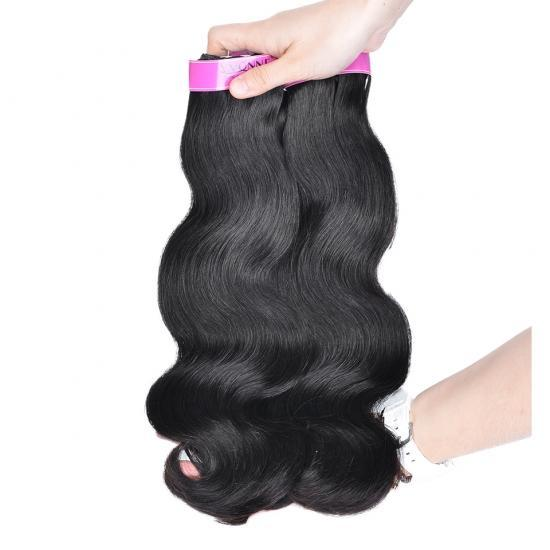 Yvonne Diamond Double Drawn Hair Weft Body Wave 3Bundles/Lot Natural Color