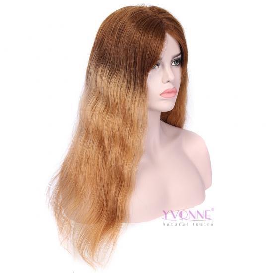 [ONLY ONE] YVONNE Natural Wavy Ombre Glueless Lace Front Wigs 100% Human Hair