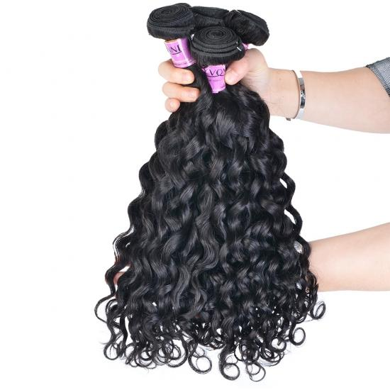 Free Shipping Diamond Quality Brazilian Hair Weave Italian Curly 3/4 Bundles Natural Color