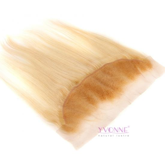 YVONNE 613 Virgin Brazilian Hair Lace Frontal,100% Straight Blonde Color Human Hair 13x4 Frontal Closure