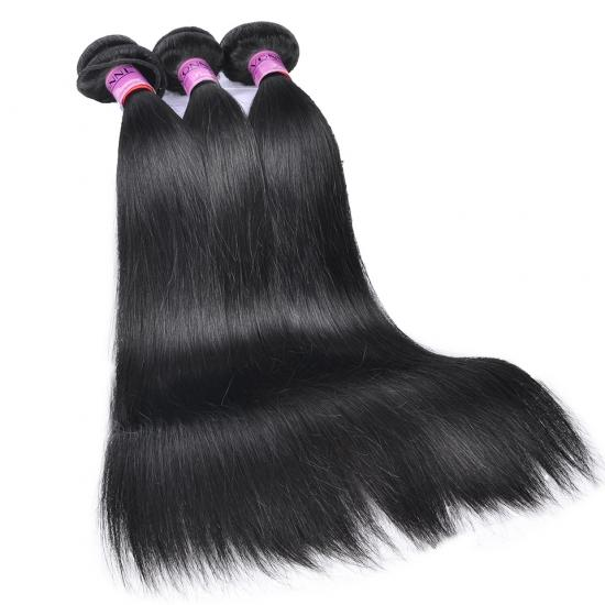 Free Shipping Diamond Quality Brazilian Straight Hair Weave 3 Bundles Natural Color