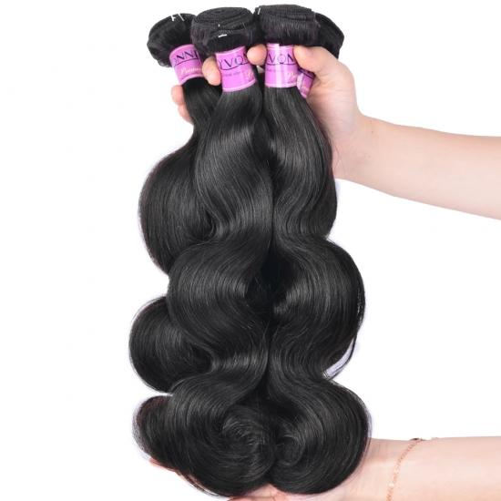 Diamond Quality Brazilian Hair Weave Body Wave 3 Bundles/Lot Natural Color Free Shipping