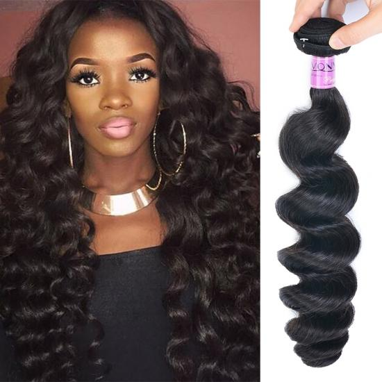 Diamond Quality Brazilian Hair Weave Loose Wave Natural Color 1Pcs/lot