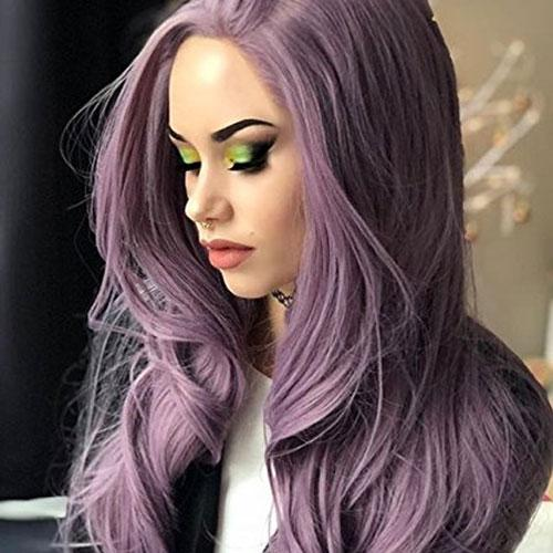 Yvonne Purple Synthetic Lace Front Wig Body Wave Long Heat Resistant Hair Wigs For Women