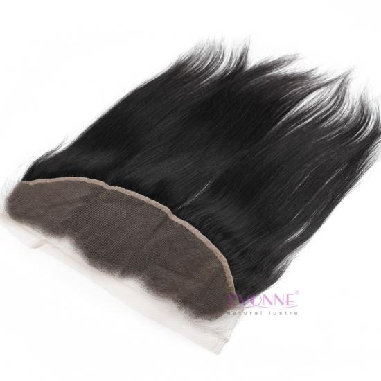 YVONNE Straight Brazilian Lace Frontal,100% Virgin Hair Brazilian Human Hair Lace Frontal 13.5x4