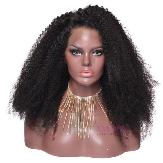 YVONNE Afro Kinky Curly Lace Front Human Hair Wigs For Women Brazilian Virgin Hair Natural Color