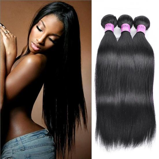 Brazilian Remy Hair Weave Straight Natural Color 1Pcs/lot