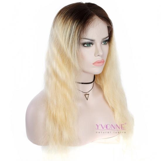 Yvonne Lace Front Human Hair Wigs Body Wave Ombre Hair Wigs T1B/613 Color 20inches