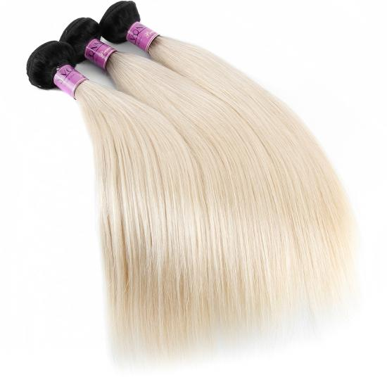 1B/613 YVONNE Brazilian Hair 3/4 Bundle/pack Straight Hair Weave 100% Human Hair Weft,12inch to 28inch in stock