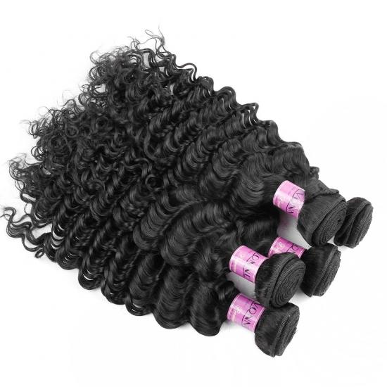 BIG SALE 3/4Pcs Curly Hair,Remy Human Hair Weave,Natural Color,YVONNE Deep Curly Hair Products
