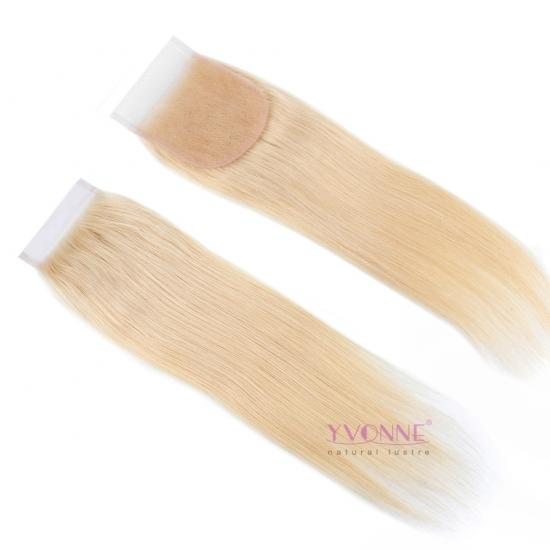 YVONNE Top Grade 613 Platinum Blonde Straight Free Part 4x4 Lace Closure,100% Virgin Hair Lace Top Closure,8inch-20inch Avaliable