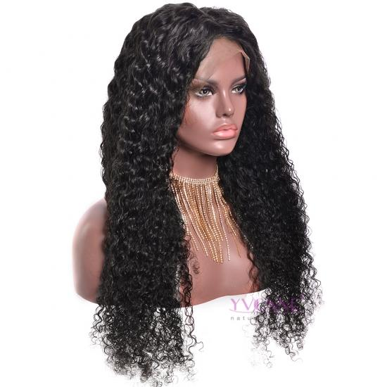 YVONNE Malaysian Curly Human Hair 360 Lace Frontal Wigs Pre Plucked with Baby Hair Lace Wigs