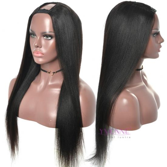 YVONNE Yaki Straight U Part Wigs Human Hair For Women Brazilian Human Hair Wigs Natural Color