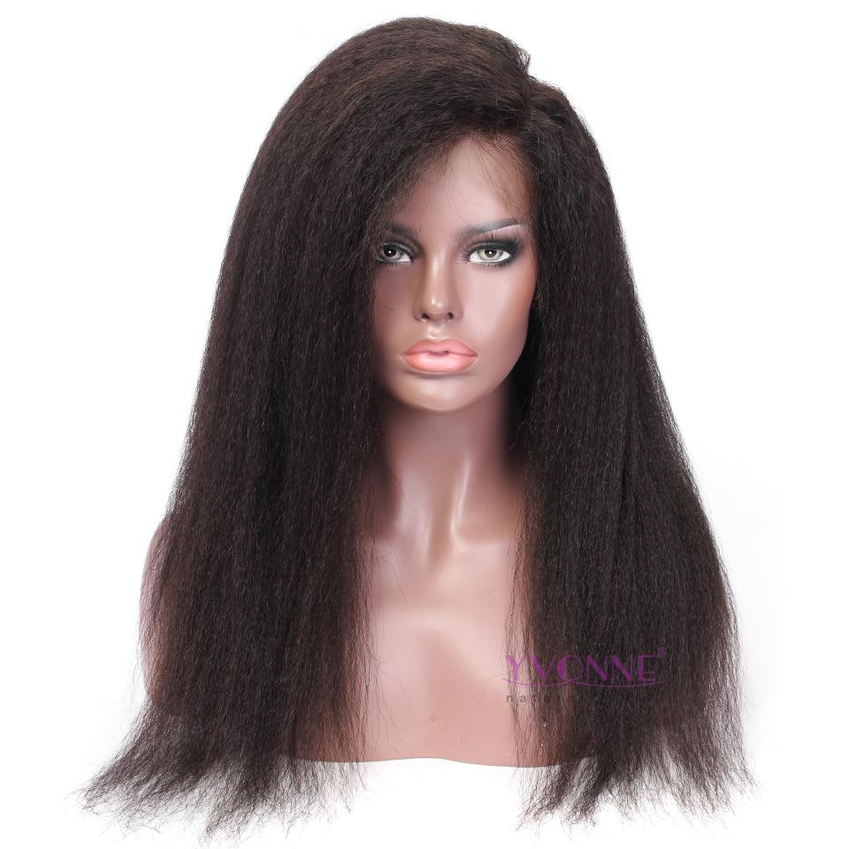 3cbe5970daa YVONNE 360 Lace Frontal Wigs Kinky Straight For Black Women Pre Plucked  Lace Wig 100% Human Remy Hair Products