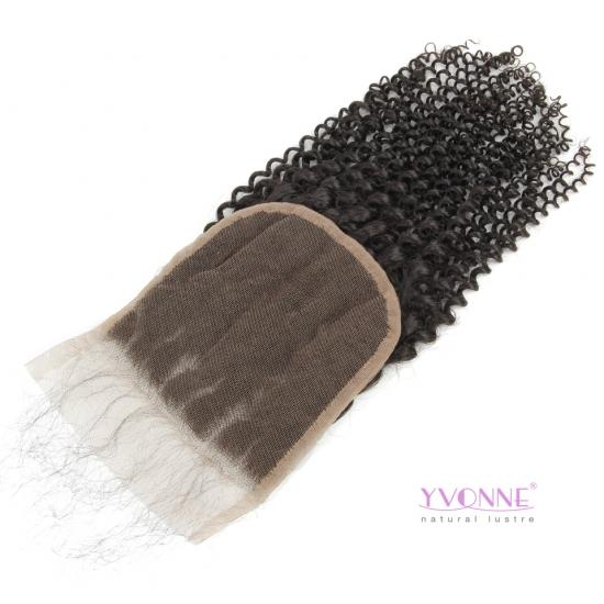 Yvonne Hair Kinky Curly 5x5 Lace Closure Free Part Swiss Lace 100% Human Hair Closure With Baby Hair