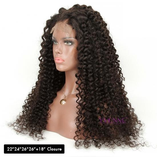 YVONNE Customized DIY Wigs Deep Wave 4x4 Lace Front Wigs Extra Density and Natural Color With Baby Hair Around