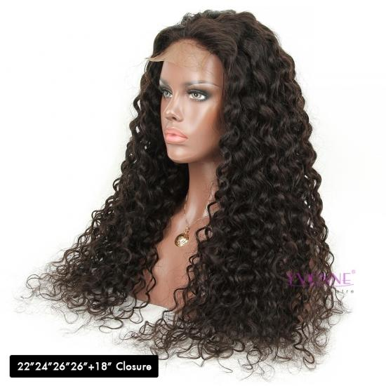 YVONNE Customized DIY Wigs Italian Curly 4x4 Lace Closure Wigs Extra Density and Natural Color With Baby Hair