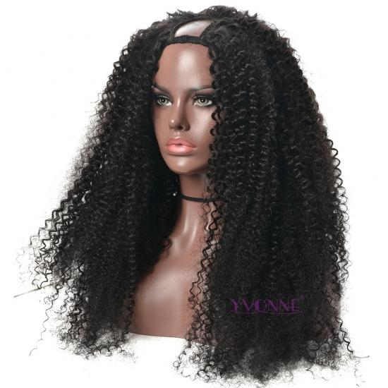 YVONNE Malaysian Curly U Part Wigs Human Hair For Women Brazilian Virgin Hair Wigs Natural Color All Length Available