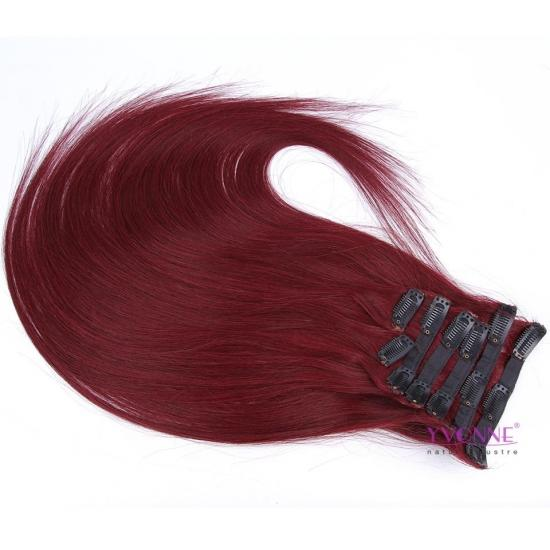 YVONNE Fashion Color Clip In Brazilian Human Hair Extension Natural Straight 22inches Color 99, #613,#4,#2