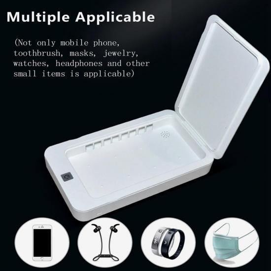 UV Mobile Phone Sterilizer Neutral plastic Ultraviolet Disinfection Box Mask Sterilizer Small UV Sterilization Cleaning