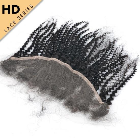 Yvonne HD Lace Frontal 13.5*4 Kinky Curly HD Swiss Lace Frontal Virgin Hair With Baby Hair