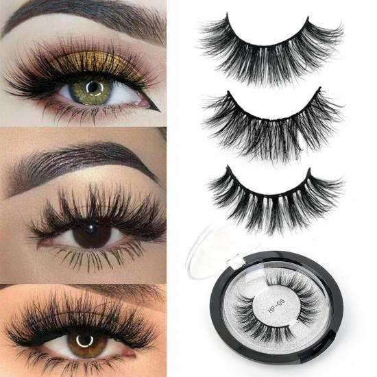 YVONNE 3D Real Mink Eyelashes 100% Cruelty Free Lashes Handmade Reusable Natural Eyelashes