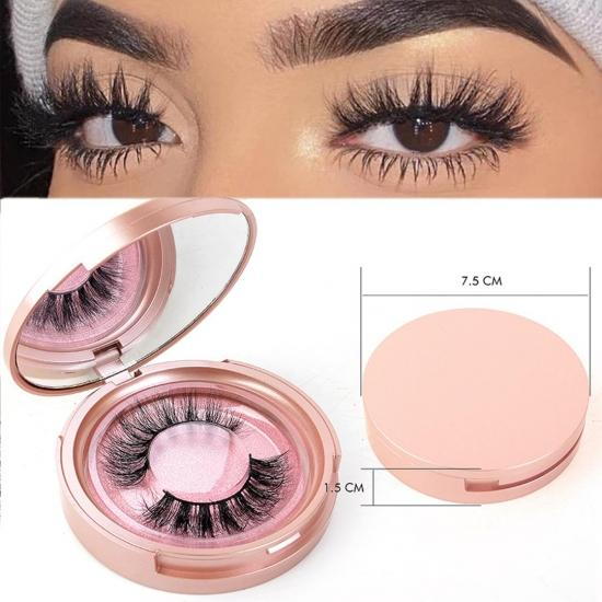 YVONNE Mink Lashes, 3D Mink Eyelashes Natural False Eyelashes Siberian 3D Mink Lashes Natural Look Eyelashes Hand-made Fluffy Volume Lashes 1 Pair
