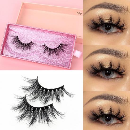 YVONNE Makeup Mink Eyelashes 100% Cruelty free Handmade 3D Mink Lashes Full Strip Lashes Soft False Eyelashes Makeup Lashes